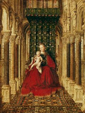Madonna with child. Middle panel of a Flügelaltärchens.