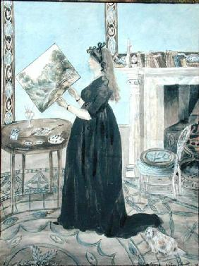 Portrait of Elizabeth Anne Fordyce in the Little Sitting Room at Putney Hill