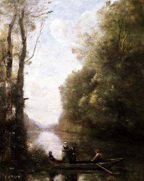 The Ferryman Leaving the Bank with Two Women