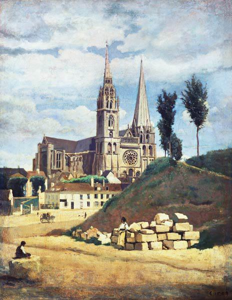 Corot, Jean-Baptiste-Camille : The Cathedral of Chartres