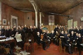 Le Journal des Debats, 1889 (oil on canvas)
