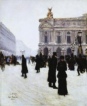 Outside the Opera, Paris