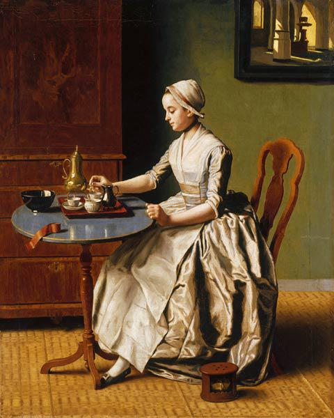 A Lady pouring Chocolate (La Chocolatière)