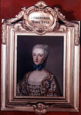 Archduchess Maria Anna 'Marianne' (1738-89) daughter of Emperor Francis I (1708-65) and Empress Mari
