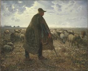 Millet, Jean-Fran�ois : Shepherd Tending His Flock