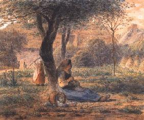 Millet, Jean-Fran�ois : In the garden