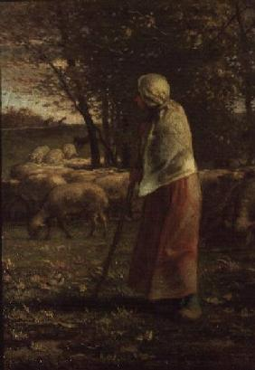 Millet, Jean-Fran�ois : The Little Shepherdess
