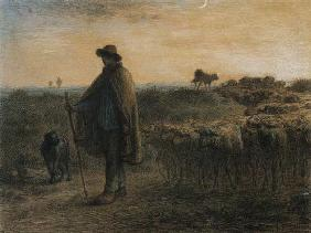 Millet, Jean-Fran�ois : Return of the herd