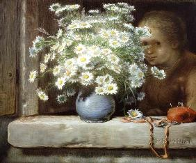 Millet, Jean-Fran�ois : The Bouquet of Margueritas...