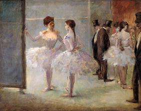 Forain, Jean Louis : Dancers in the Wings at th...
