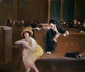 Forain, Jean Louis : Scene in the courtroom