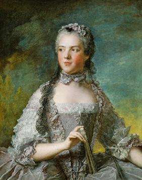 Portrait of Adelaide de France (1732-1800) with a Fan