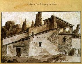 Factory in the Countryside Around Rome (pen & ink with sepia wash on paper)