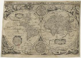 Nova totius terrarum orbis geographica ac hydrographica tabula (Map of the world)