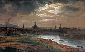 Look at Dresden at evening