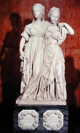 Double statue of the Princesses Louise (1776-1810) and Frederica (1778-1841) of Prussia