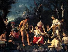 Hercules in the garden of the Hespiriden