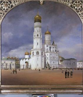 The panorama Kremlin middle panel of the triptych