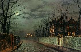 Old English House, Moonlight After Rain