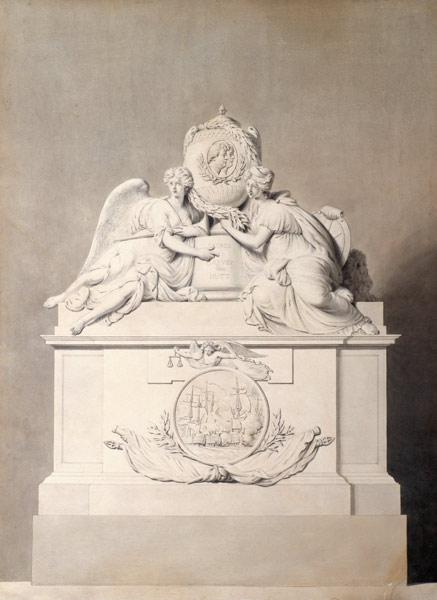 Design for the Monument to Captains Harvey and Hutt in Westminster Abbey
