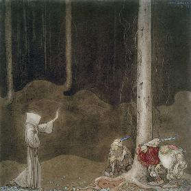 Brother St. Martin and the Three Trolls, 1913 (w/c on paper)