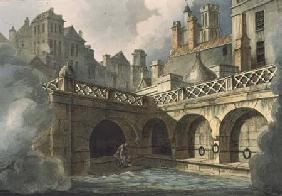 Inside of Queen's Bath, from 'Bath Illustrated by a Series of Views', engraved by John Hill (1770-18