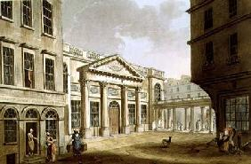 The Pump Room, from 'Bath Illustrated by a Series of Views', engraved by John Hill (1770-1850) pub.