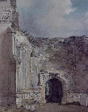 East Bergholt Church: North Archway of the Ruined Tower