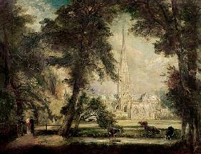 Salisbury Cathedral from the Bishop''s Grounds, c.1822-23