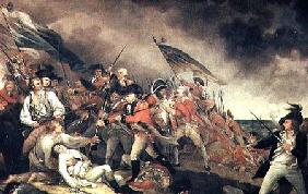 The Death of General Warren at the Battle of Bunker Hill in 1775