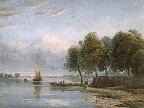 A View of the Thames at Millbank