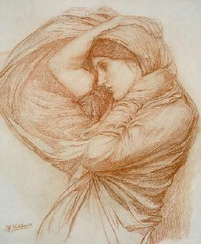 Waterhouse, John William : Study for 'Boreas'