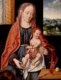 Maria with the child.