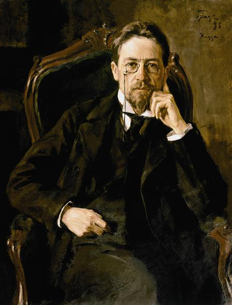 Portrait of the poet Anton Tschechow.