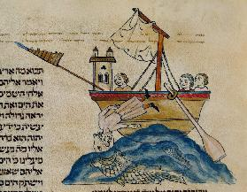 Jonah Eaten by the Whale, from a Hebrew Bible