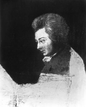 Unfinished Portrait of Wolfgang Amadeus Mozart (1756-91)