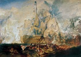 Turner, William : The battle of Trafalgar