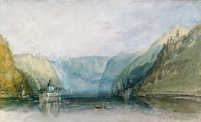 Turner, William : The Pfalz near Kaub