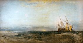 Turner, William : W.Turner, A Ship Aground