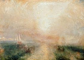 Turner, William : Yacht aproaching the Coast...