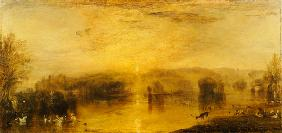 Turner, William : The Lake, Petworth: Sunset...