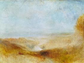 Turner, William : Landscape with a River and...