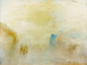 Turner, William : Sunrise with a boat betwee...