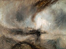 Turner, William : Snowstorm on the sea
