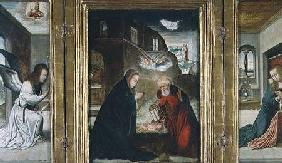 The Birth of Christ Triptych with the Nativity flanked by the Annunciation (panel)