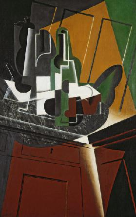 The Sideboard, 1917 (oil on plywood)