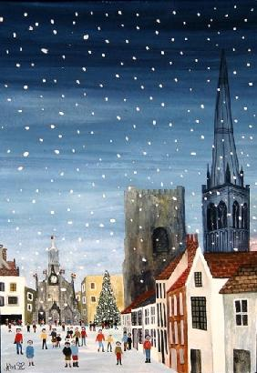 Chichester CathedralA Snow Scene