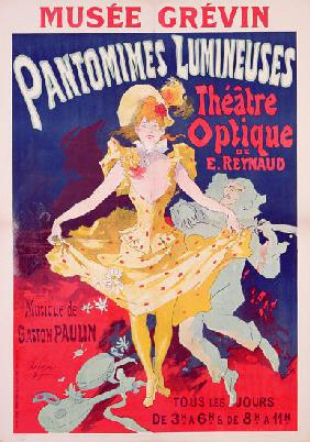 Poster advertising 'Pantomimes Lumineuses, Theatre Optique de E. Reynaud' at the Musee Grevin, print