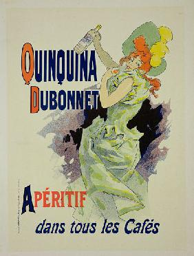 Reproduction of a poster advertising 'Quinquina Dubonnet'