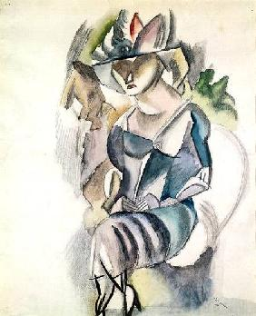 Pascin, Jules : Seated woman